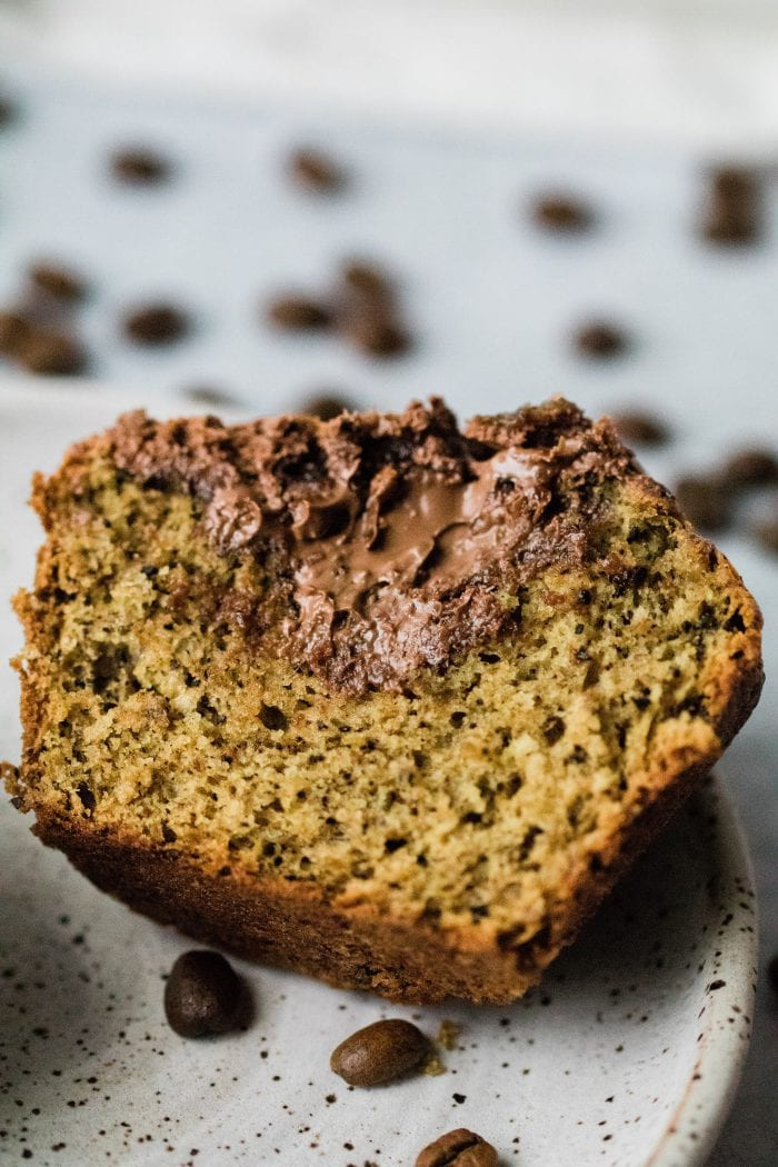 Nutella filled muffin with subtle notes of coffee and banana.