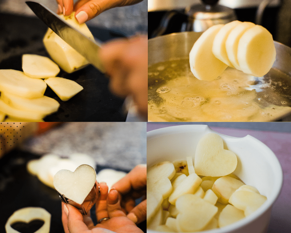 step by step photos of making valentines hearts