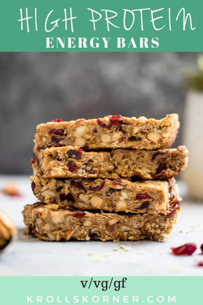 homemade granola bars on an off white table
