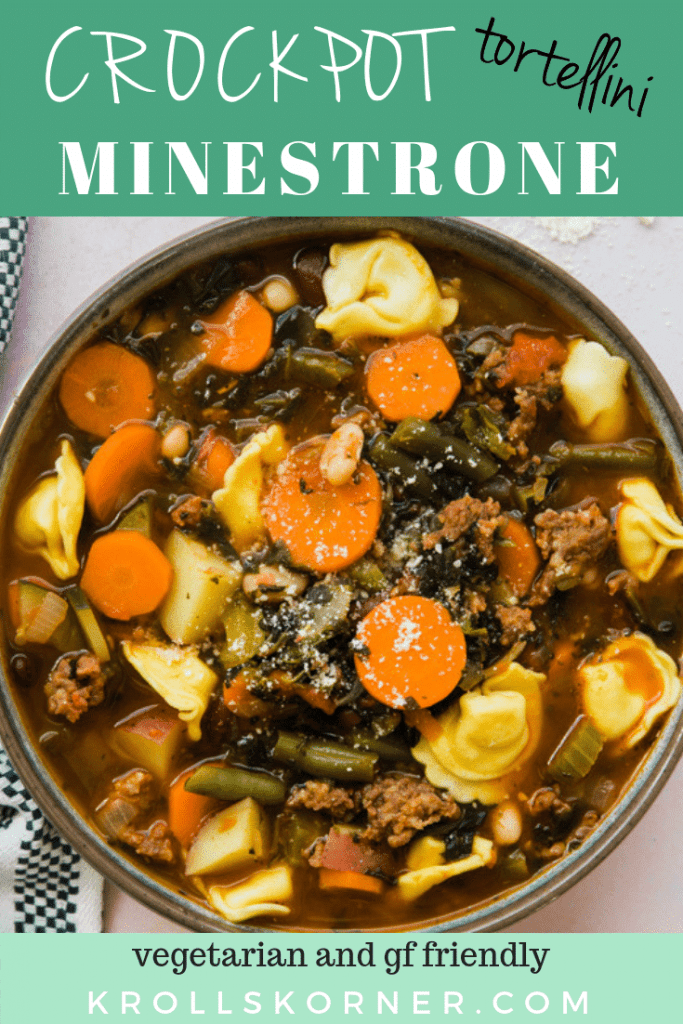 a big bowl of minestrone soup