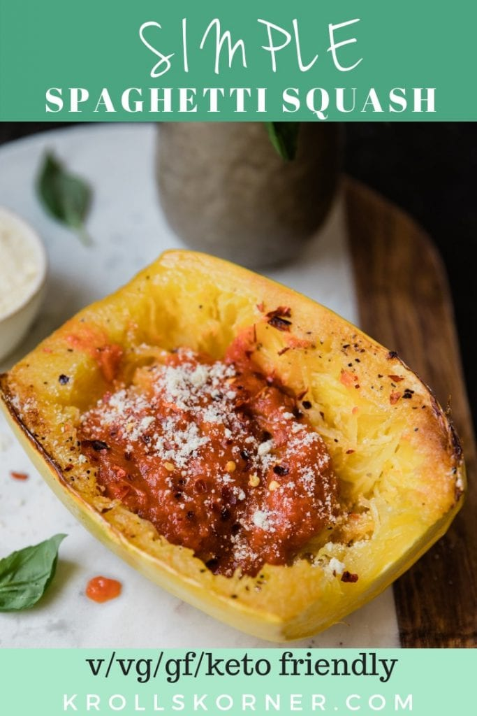 a cooked spaghetti squash on a marble board