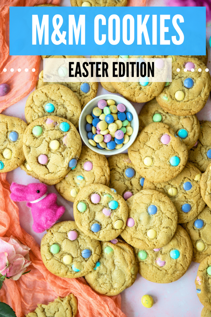 M&m cookies for easter