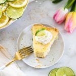 key lime with on a marble board