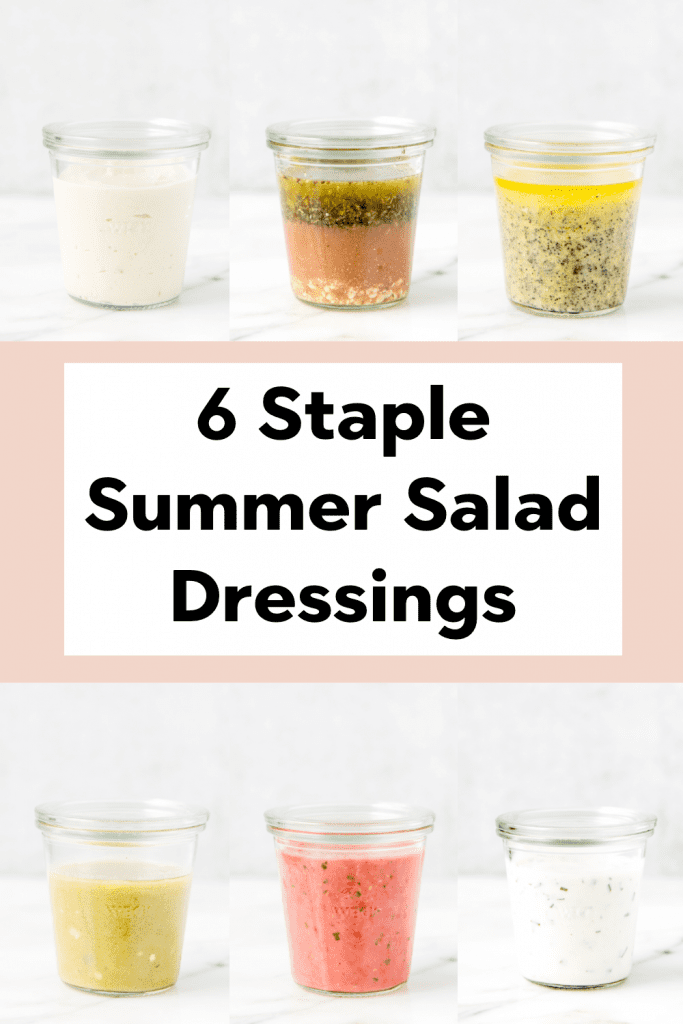 salad dressings in glass jars