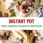 chicken in a creamy sun dried tomato sauce