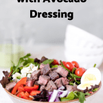 meal prep keto steak cobb salad