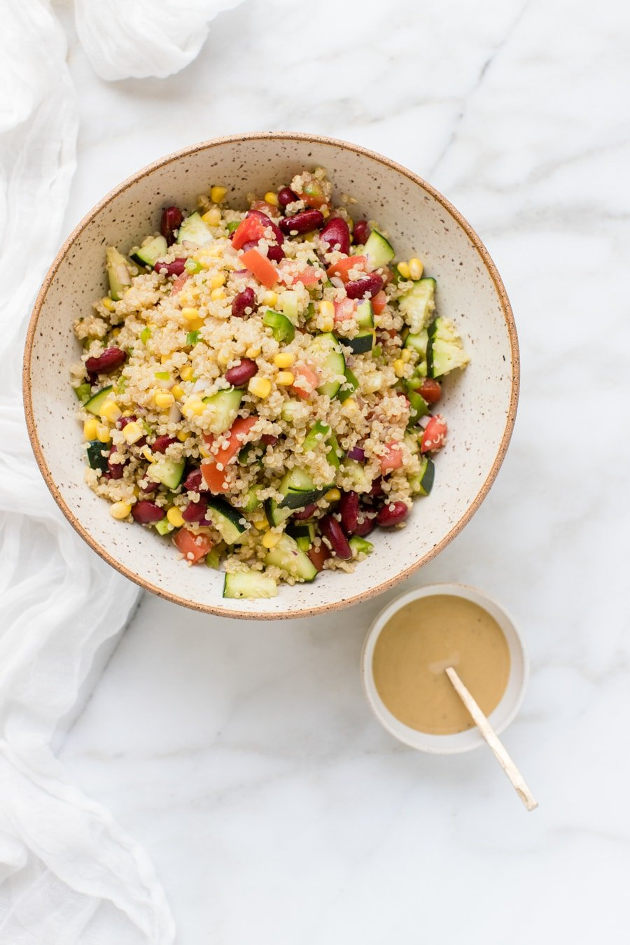 Vegan Quinoa Salad With Tahini Dressing Kroll S Korner