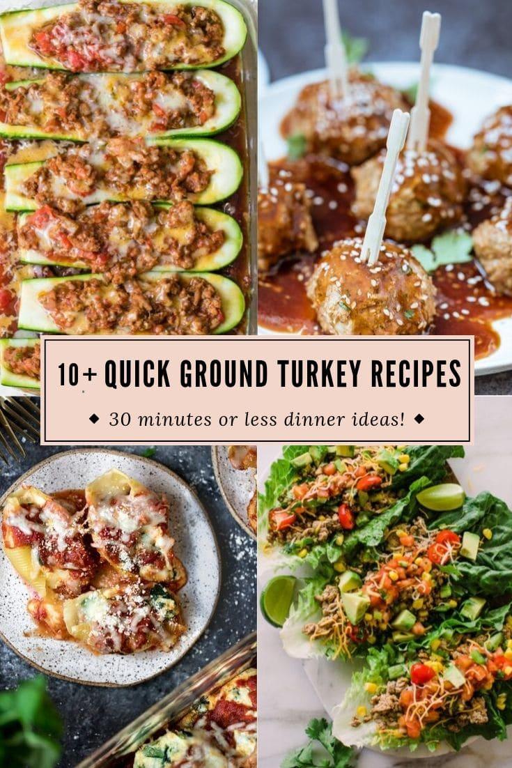 Quick Ground Turkey Recipes What To Make With 1lb Ground Turkey