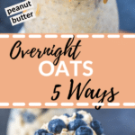 overnight oats in a glass jar