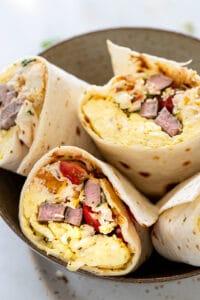 steak and egg burritos