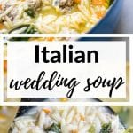 italian wedding soup in a large stock pot