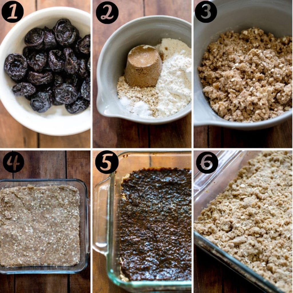 step by step photos of how to make prune bars