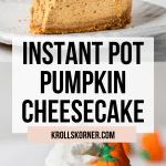 pumpkin cheesecake on a white plate