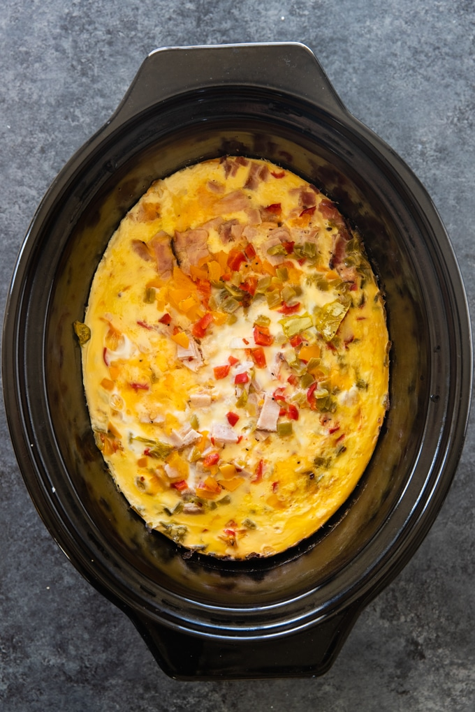 egg casserole in a slow cooker