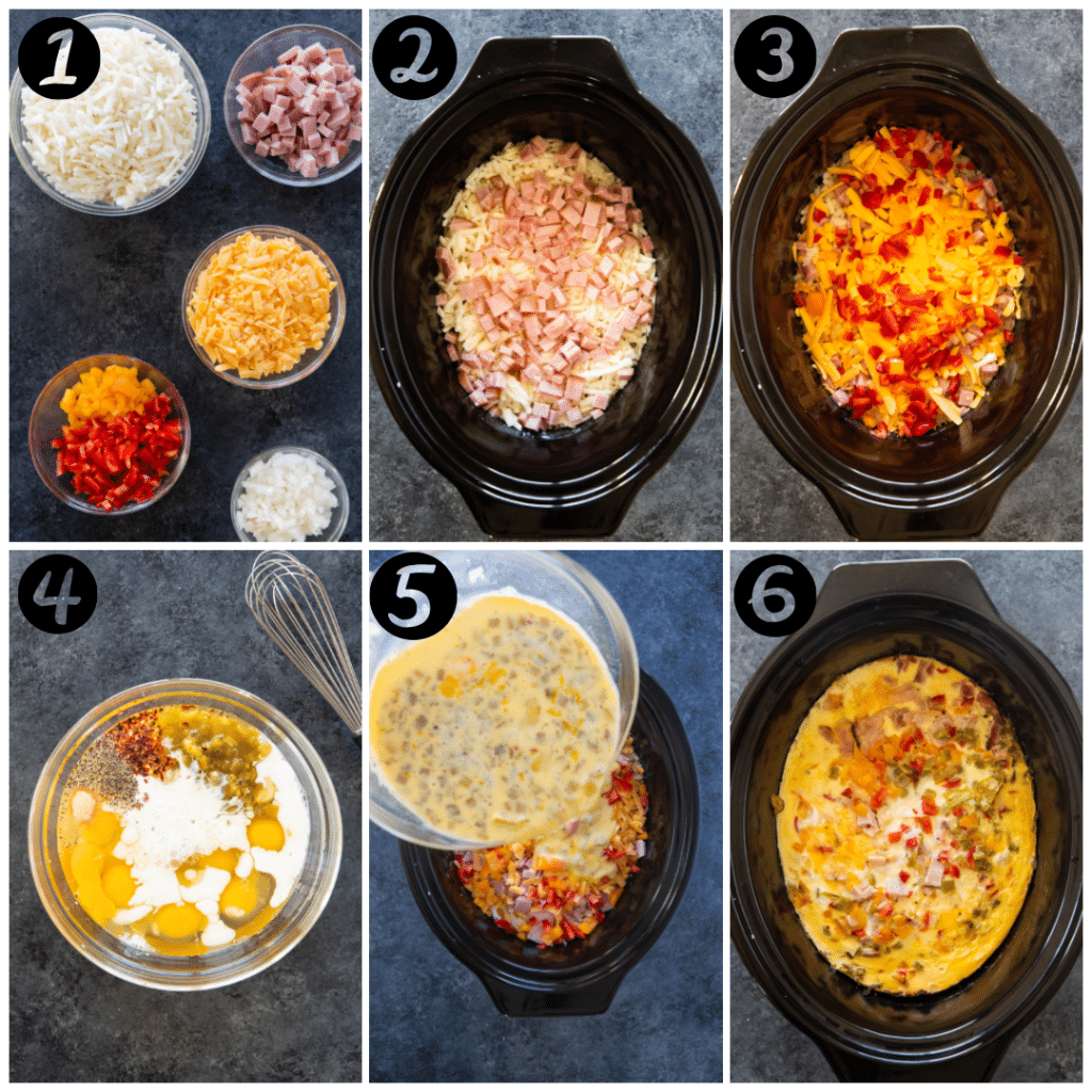 how to make an egg casserole in the slow cooker