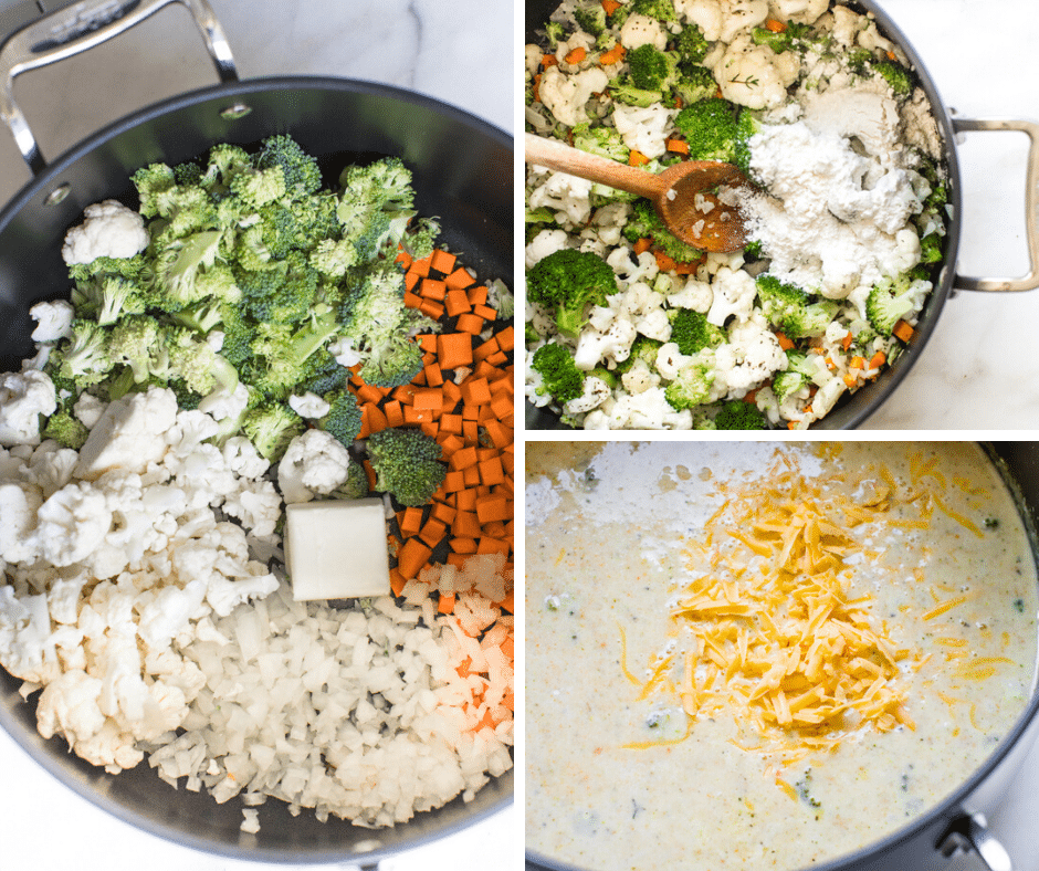how to make broccoli cauliflower soup