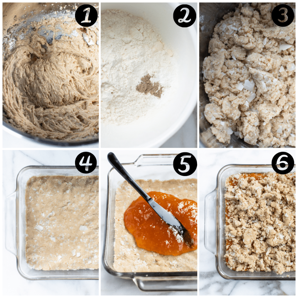 step by step photos of how to make homemade apricot bars