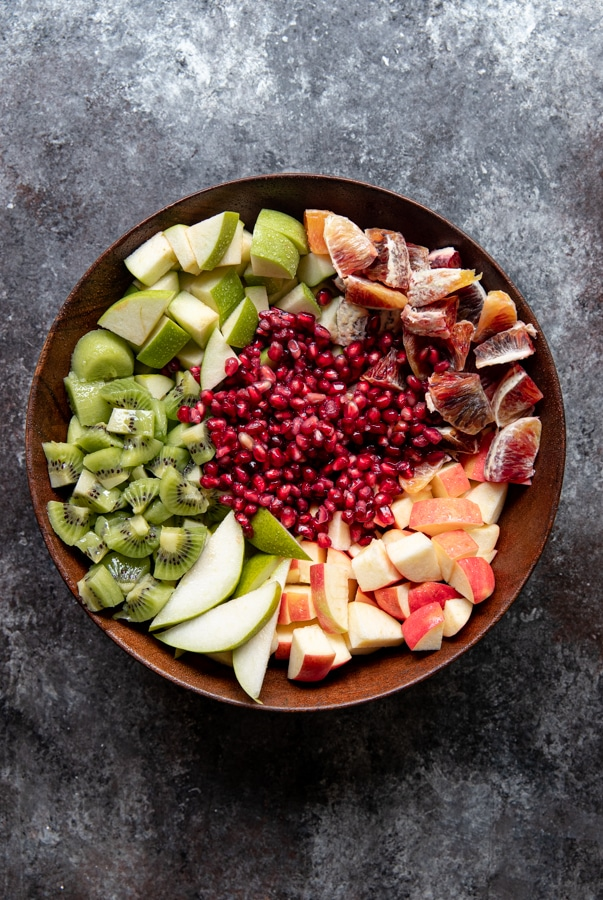 A bowl of mixed fruit