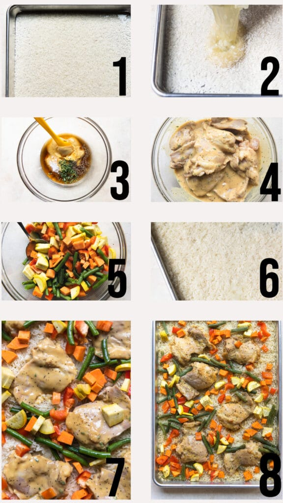 step by step photos of how to make a an easy sheet pan dinner