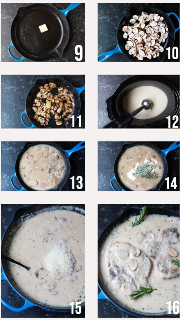step by step photos of how to make a creamy mushroom sauce