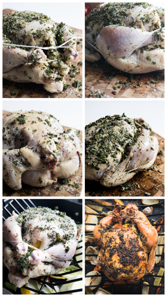 step by step photos of how to truss a chicken for roasting