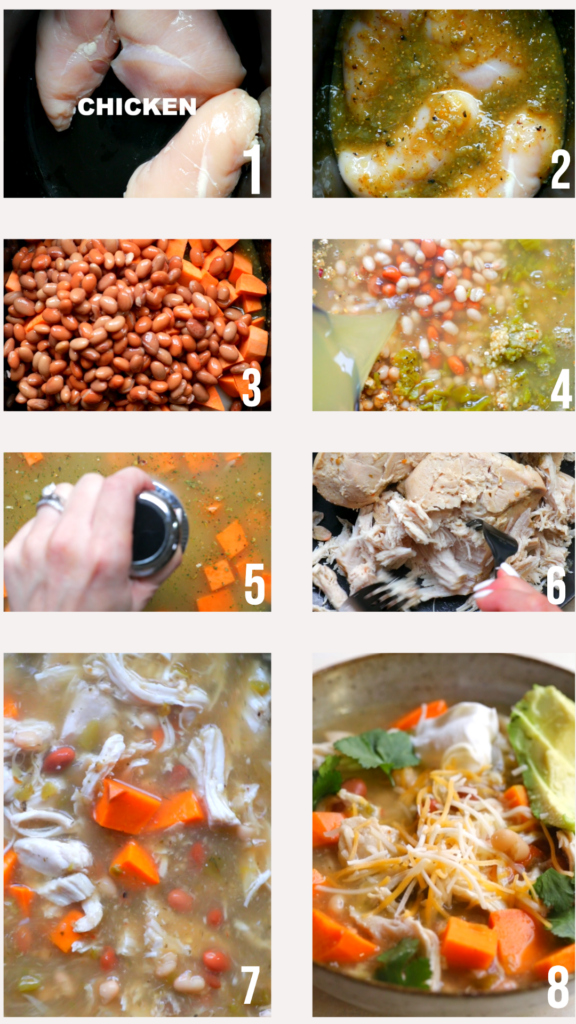 step by step photos of how to make white chicken chili