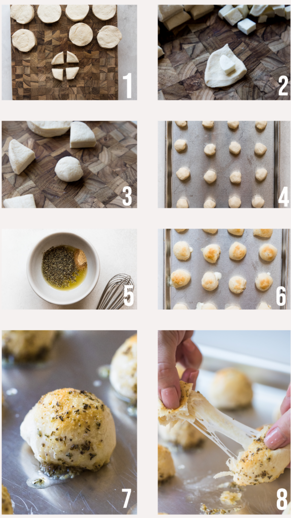 step by step photos of how to make garlic herb cheese bread