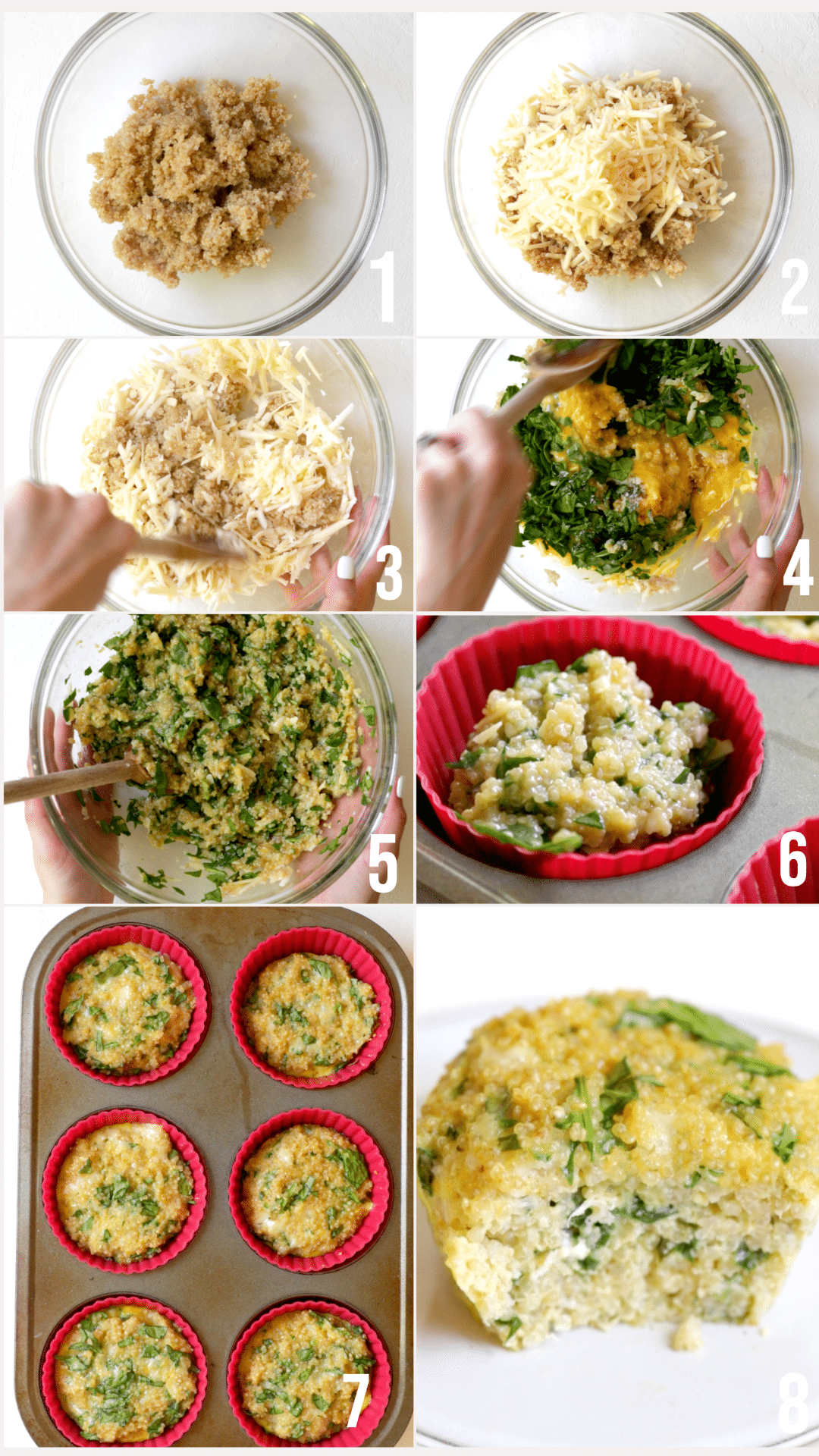 step by step photos of how to make quinoa egg muffins