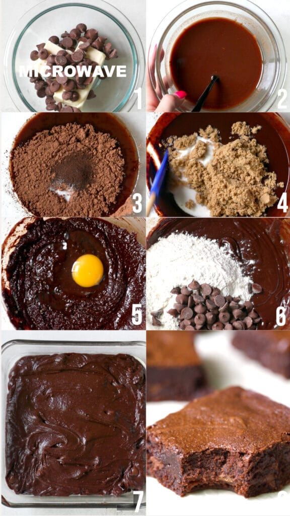 step by step photos of how to make brownies