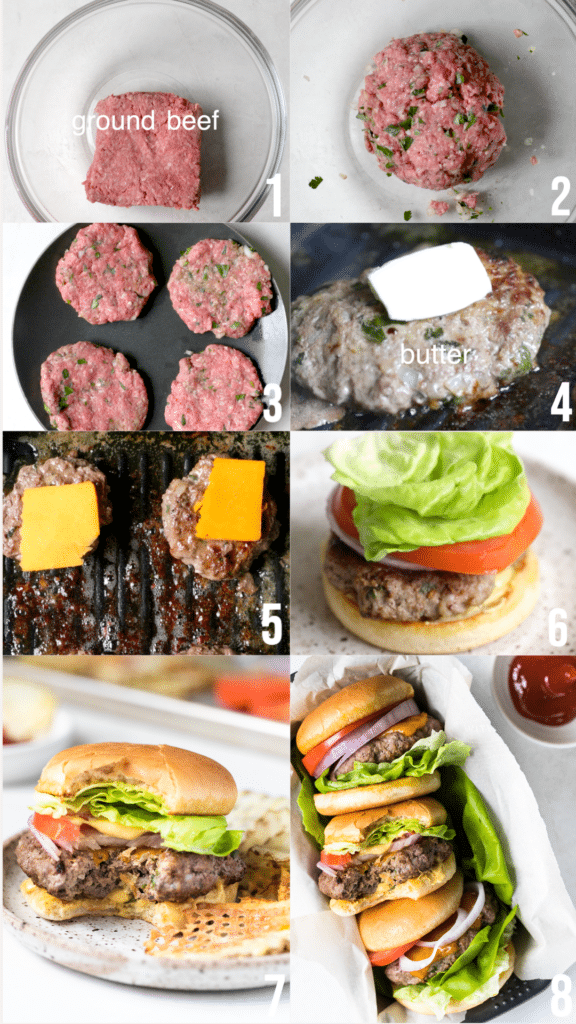 how to make ground beef burgers