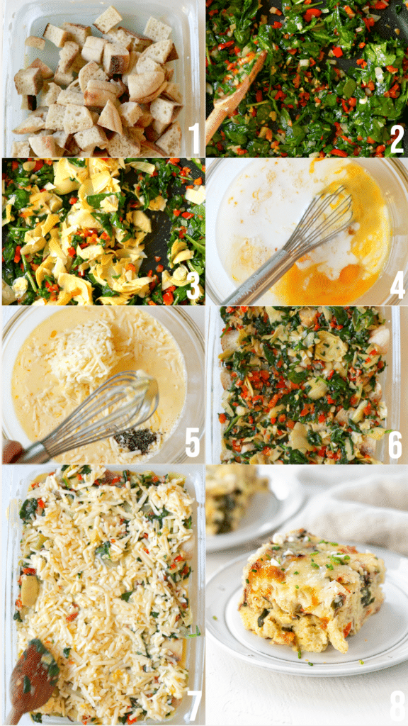 step by step photos on how to make an egg bake