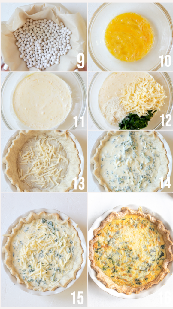 step by step photos on how to make quiche florentine