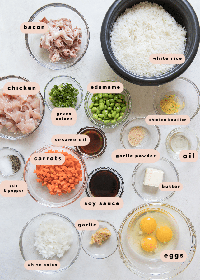 ingredients needed to make fried rice