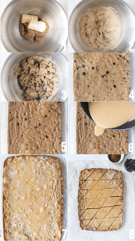 step by step photos of how to make coffee toffee bars