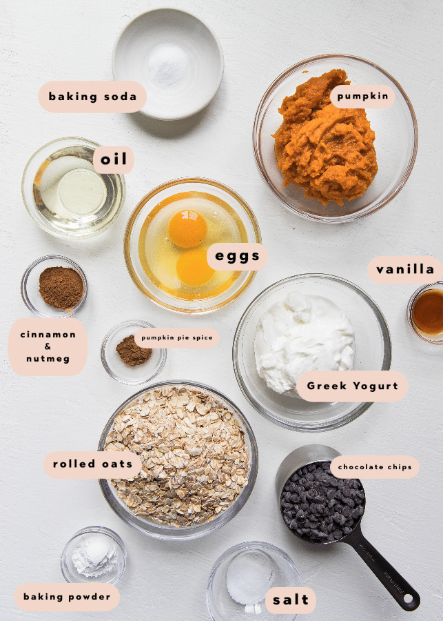 all of the ingredients needed to make blender muffins