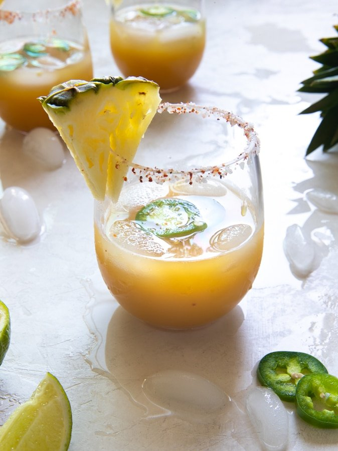 pineapple margarita in a glass
