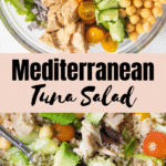 tuna salad with mediterranean flavors in a bowl