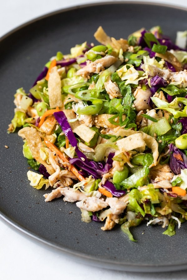 Chinese chicken salad on a plate