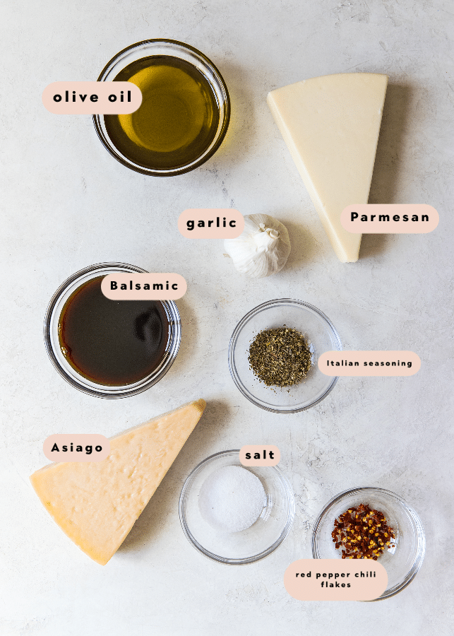 ingredients needed to make balsamic dipping sauce