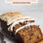 carrot cake bread with cream cheese frosting