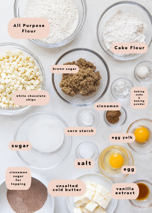 ingredients needed to make the best snickerdoodle cookie recipe