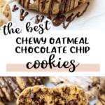 oatmeal raisin cookies with glaze on top