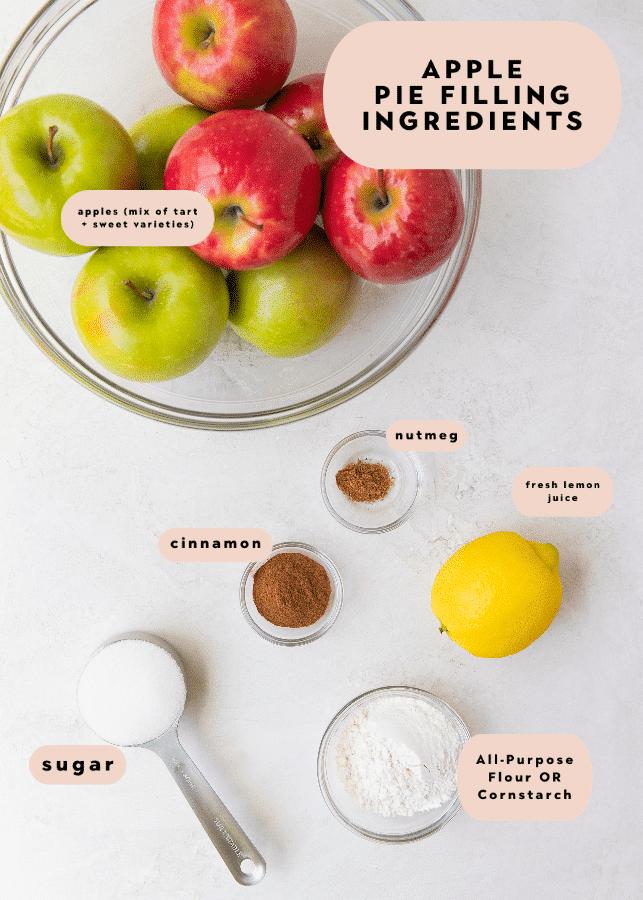 apple pie filling ingredients needed to make apple pie bars