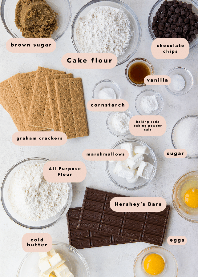 ingredients needed to make smores cookies