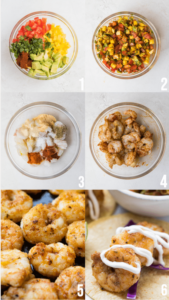 step by step photos of making shrimp tacos