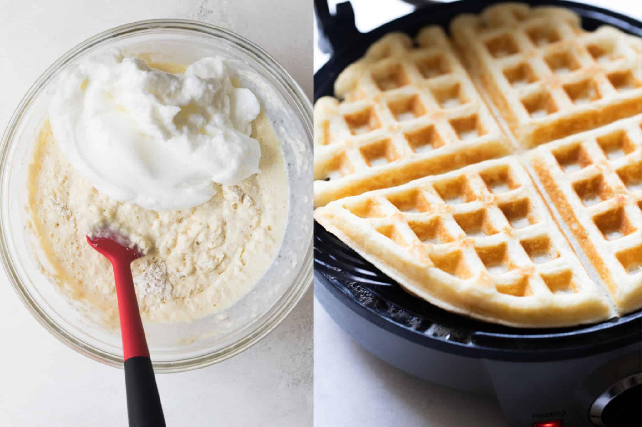 photos of making waffles