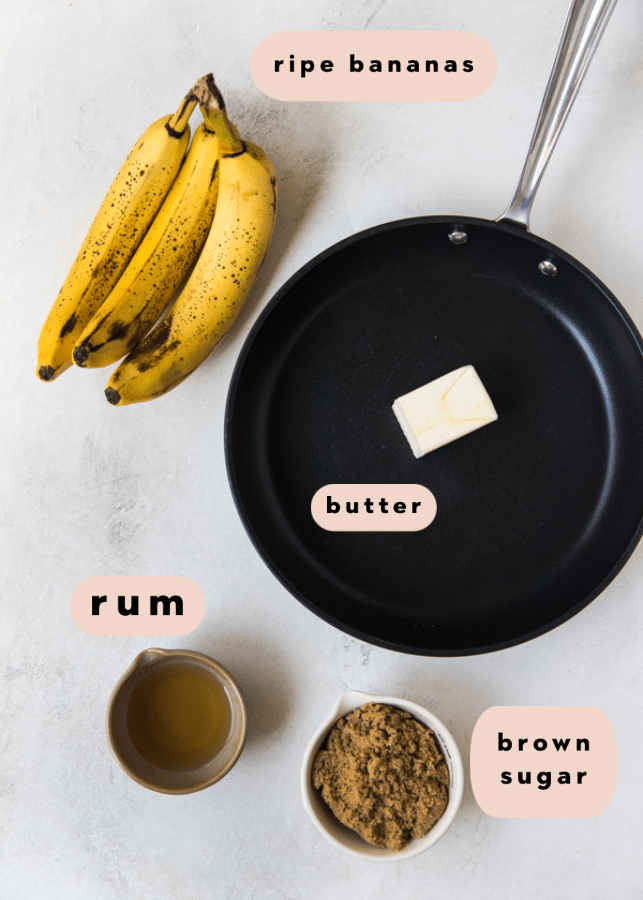 ingredients needed to make banana bread