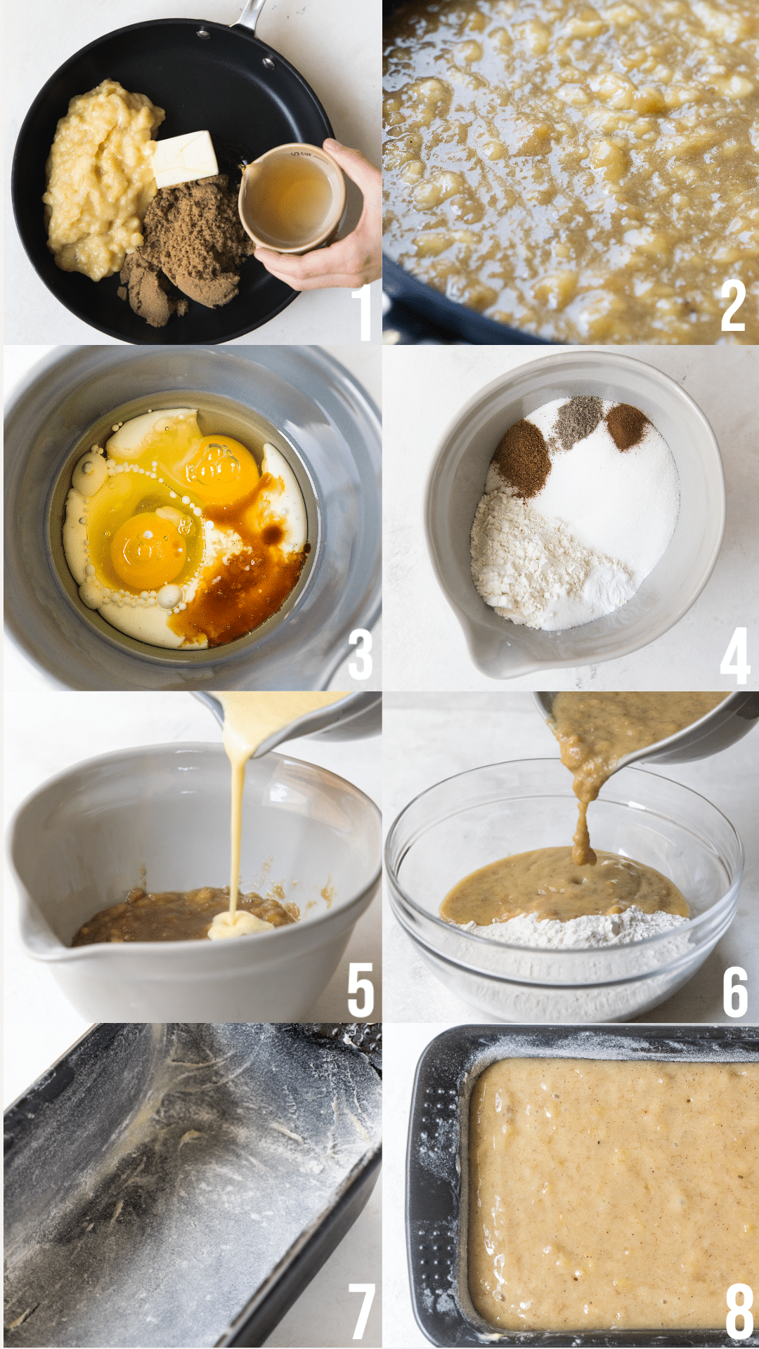 step by step photos of making banana bread
