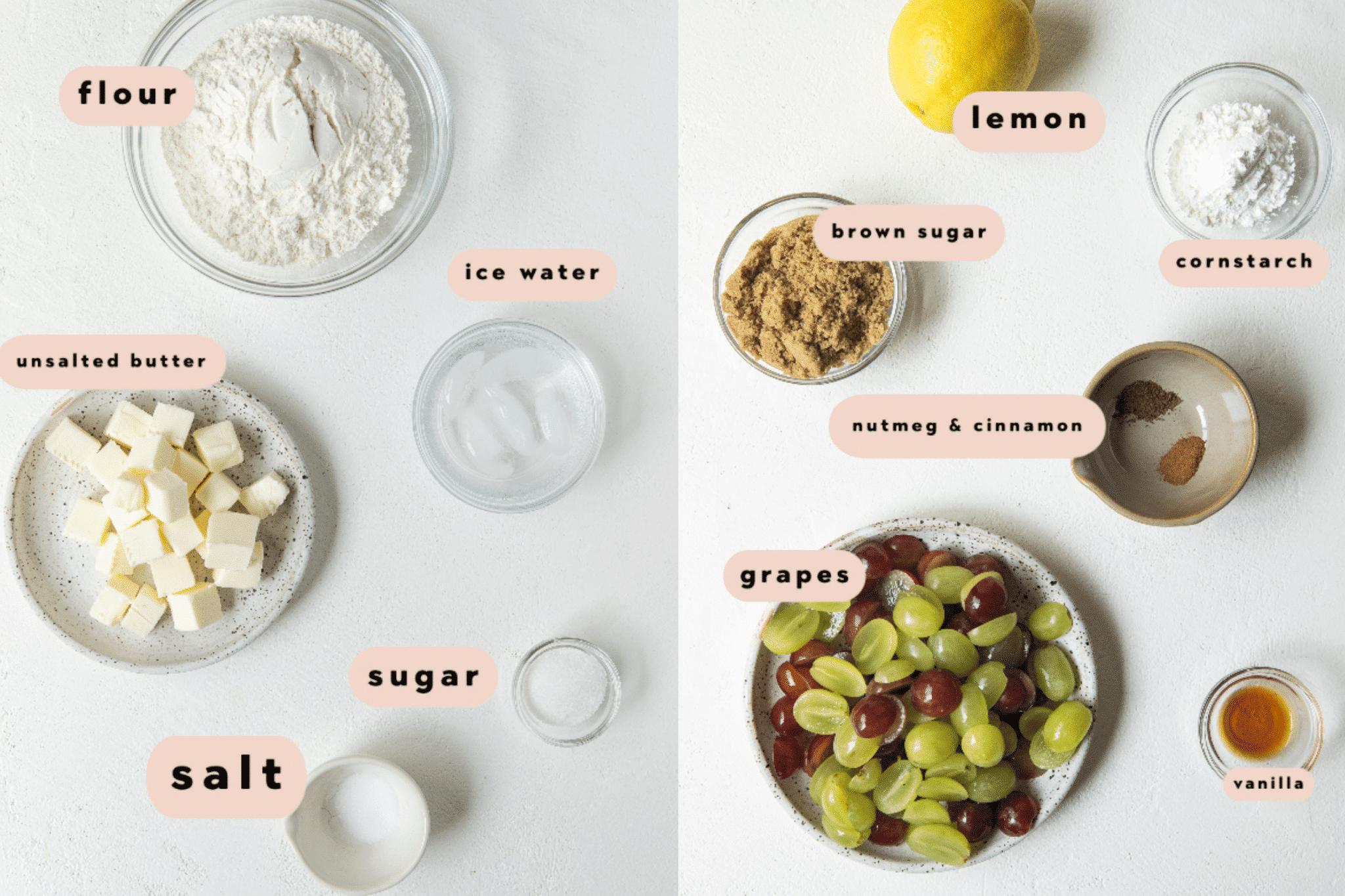 grape galette ingredients