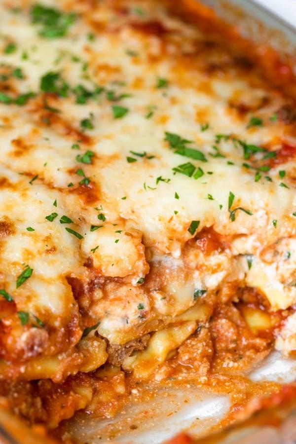 baked ravioli lasagna